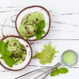 Mint choc chip matcha vegan ice cream recipe