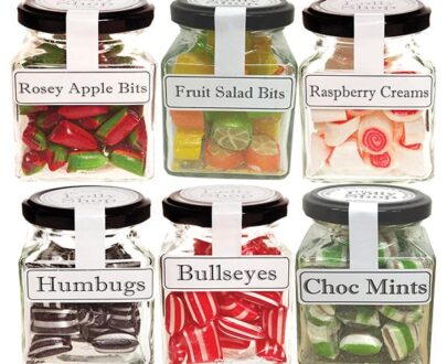Boiled Lollies Rock Candy MIXED Pack 130g Jars - Packed In Boxes of 12